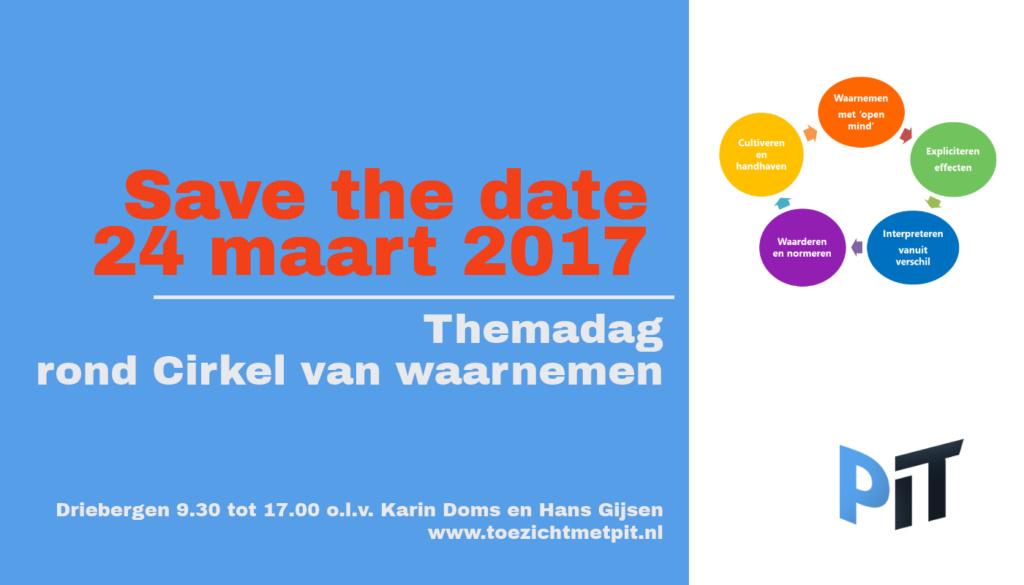 Save the date: 24 maart reflectiedag Cirkel van Waarnemen