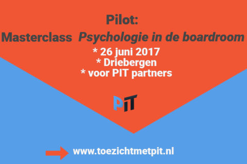 26 juni pilot: Masterclass Psychologie in de boardroom